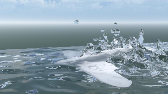 realflow  maya  krakatoa  渲染泡沫流程
