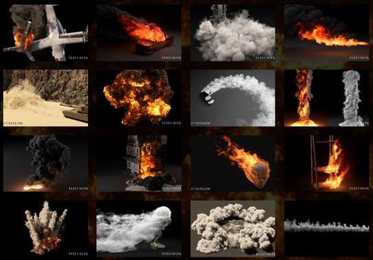 中文字幕Phoenix FD火凤凰火焰烟雾特效场景实例制作视频教程