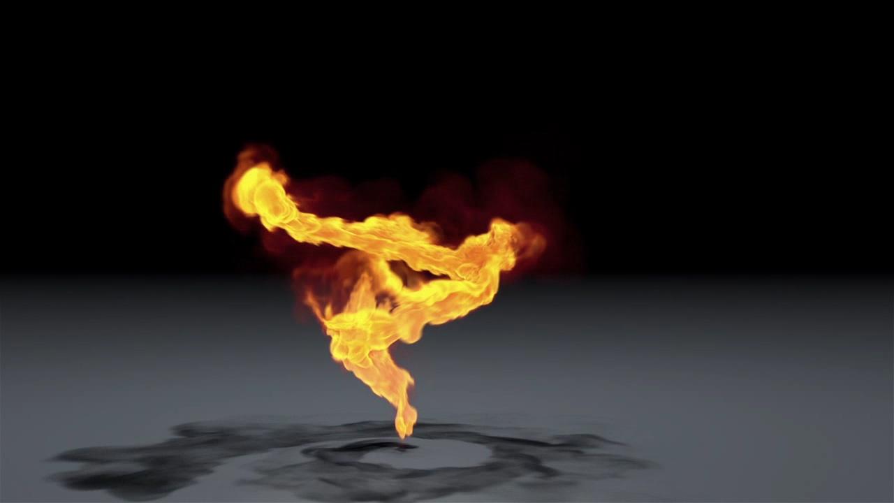 C4D TFD火焰路径运动