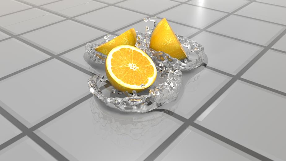 realflow柠檬水花