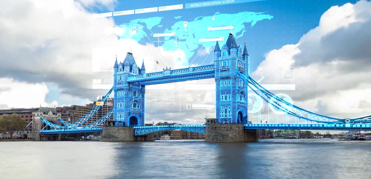 AE建筑科技线条动画