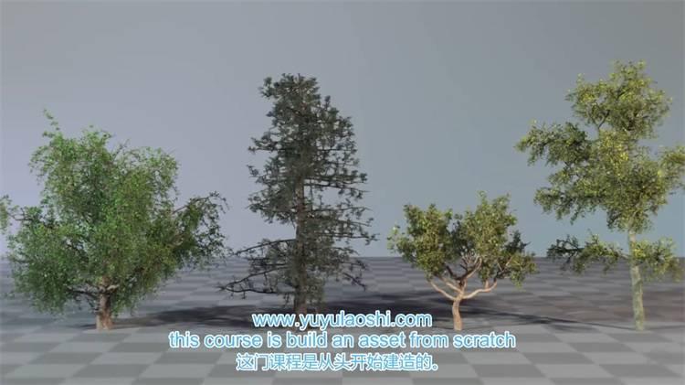 中文字幕《Houdini树木植物实例制作视频教程》