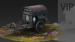3Dmax游戏场景手绘贴图 画凡:马车